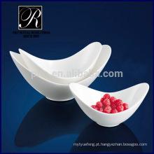 PT fábrica de porcelana chaozhou, tigela de salada de cerâmica, nova forma tigelas profundas