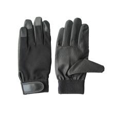 PU Palm Spandex Zurück Mechanic Handschuh-7401