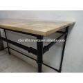 industrial metal bar table