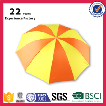 """21""""x8 Panels Manual Open Promotional Wholesale for Travel Orange and Yellow Cheap Rain 3 fold Umbrella With Customer Logo"""