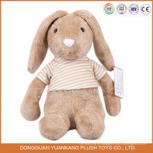 ICTI stuffed custom rabbit tshirt animal plush toys wholesale
