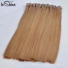 Extensiones al por mayor del pelo I-Tip blanco Nano / V / U / Flat Tip de la alta calidad del pelo humano de Remy