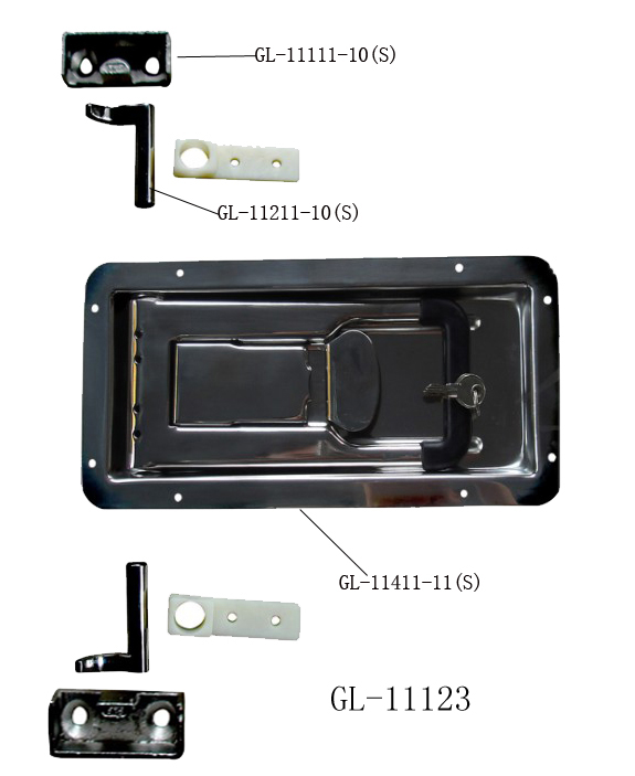Recessed Truck Door Lock GL-11123TT