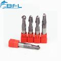 BFL-Vollhartmetall-Kugelkopf 6 mm Schaftfräser R3 * FL12 * 50L * 2F