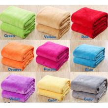 Couverture en tissu de flanelle en laine polaire Super douce