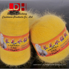 Hilado de visón marta de terciopelo hilado a mano de lana de cachemira de visón