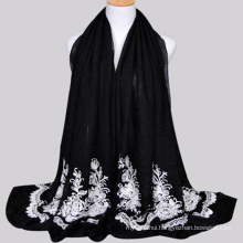 Nice Coloured big size chinese supplier yiwu city cheap embroidered scarf and shawel for women