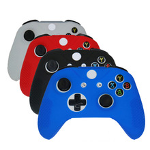 SLIM Soft Silicone Rubber Skin Gamepad Protective Case Cover for Microsoft For Xbox One S Controller