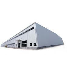 Prefabricated Portal Frame Construction Easy Install Prefab Steel Structure Showroom/Workshop/Warehouse