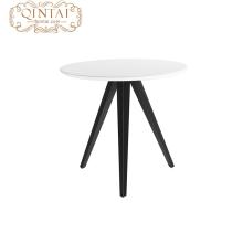 Mesa de comedor redonda de las piernas del metal del top del MDF del diseño moderno de la moda al por mayor