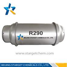 Gás de refrigeração de alta pureza propano r290 para ar condicionado