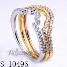 925 bijoux argentés en zircon avec bijoux féminins (S-10496)