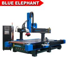 Förderung Blue Elephant Styropor Fräsen und Holz Bohrmaschine Neue Möbel CNC Router mit Seitliche Stanzspindel