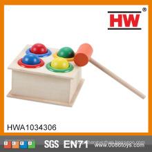 Brinquedo de madeira da criança do martelo da inteligência da alta qualidade