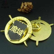 Crachá relativo à promoção chapeado ouro da polícia do Pin do metal do Pin do logotipo feito sob encomenda da espada
