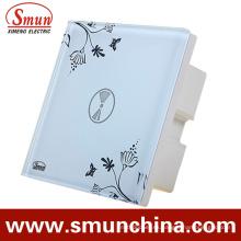 1 Interruptor táctil, interruptor de pared con control remoto, ABS blanco a prueba de fuego 1500W