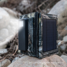 Foldable 5W Solar Panel External Battery Dual USB Charger with 4000mAh Power Bank