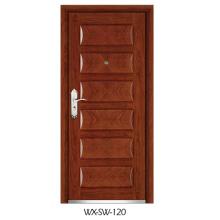 Niedrige Preis Hochwertige Stahl Holz Tür (WX-SW-120)