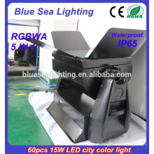 Professional 60pcs 15w 5 in 1 outdoor ip65 dmx512 led rgb wall washer