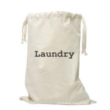 2021 washable New Arrival custom logo drawstring cotton canvas laundry bag