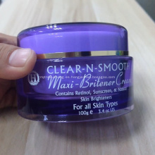 Tarro cosmético acrílico crema de embalaje para el cuidado de la piel