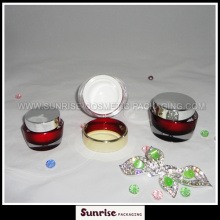15ml 30m l50ml ovale forme rouge acrylique Cosmetic Jar