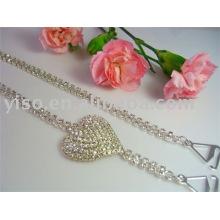 heart rhinestone fashion bra strap, underwear accessories BS110
