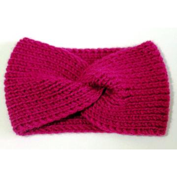 Handgestrickte Stirnband Turban Ohrwärmer Headwear Twist Hair Band
