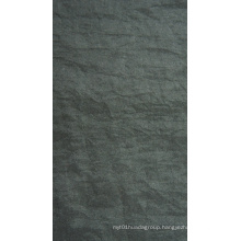 Oxford Crinkle Stonewashed Nylon Fabric with PU/PVC