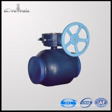 DIN Válvula de bola de soldadura DN150 Válvula de bola de suministro de agua PN16 PN25
