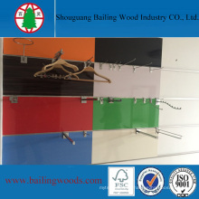 Slotted MDF Peg MDF Shelf Board for Supermarket
