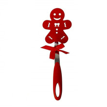 Christmas Gifts Gingerbread Man Shape Nylon Slotted Turner