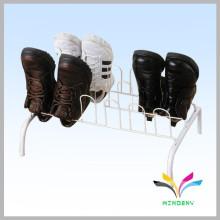 Floor standing double tiers metal wire retail shop shoe display rack