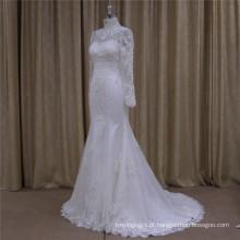 2016 Exquisite Beading vestido de noiva Lace vestido de noiva
