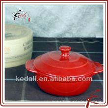 Maceta de cerámica coloreada del esmalte con el embalaje de la caja de regalo