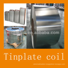 JIS G3003 prime electrical tinplate 2.8/2.8 T4CA bright finish for food can production
