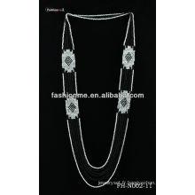 Collier de perles de couleur double
