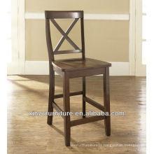Hand wooden high bar stool chair XYH1009