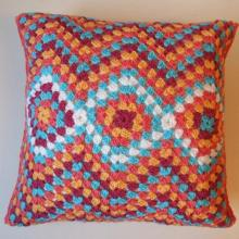 High Quality Cotton Crochet Square Cushion Cover