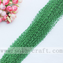 3MM Rice –Size Dark Green Colors Wire Faux Pearl Beaded String For Décor