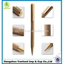 Lujo negocio regalo alta calidad delgado madera bolígrafo
