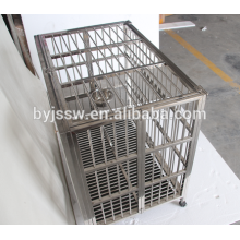 Large stainless steel dog cages