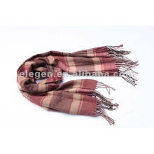 100%ACRYLIC CLASSICAL CHECKED PATTERN WOVEN STOLE SCARF