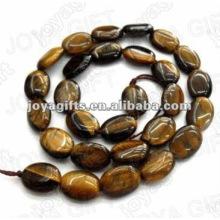 10x14MM Natural tigereye piedras de cuentas ovales plana