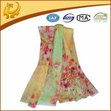 China Factory Material de lã Atacado Printed Woven Lady Acessórios de Moda Xaile de lã