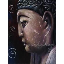 Pintura a óleo de alta qualidade de Buddha para a decoração Home (BU-028)