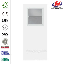 30 polegadas x 80 polegadas Smooth Flush Hardboard Solid Core Primed Composto Interior porta laje com janela utilitário