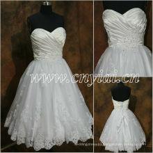 JJ2886 Beaded Sleeveless sweetheart Lace Short wedding dress 2013