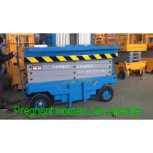 8 m 1T china supplier CE cheap mini mobile scissor lift /hydraulic scaffolding