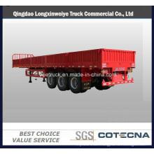 Tri-Axle Side Wall Twist Locks Flatbed Semi Trailer Cargo Trailer